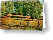 Fence - Featured In Comfortable Art Group Greeting Card