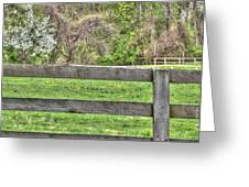 Fence Field Greeting Card