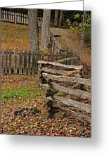 Fence In Autumn Greeting Card