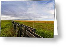 Fence Landscape Greeting Card
