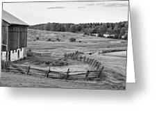 Fence Line Monochrome Greeting Card