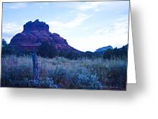 Fence Near Bell Rock Greeting Card