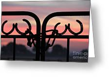 Fence Of Luck Greeting Card