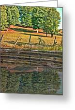 Fence Reflection Greeting Card