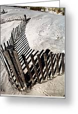 Fence Shadows Greeting Card by John Rizzuto
