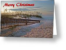 Fence To The Beach Greeting Card