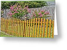 Fenced Beauty Greeting Card