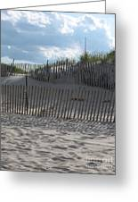 Fenced Dune Greeting Card
