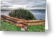 Fenced Grass Greeting Card