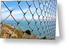 Fenced In Beauty Greeting Card
