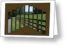 Fenced Pasture Greeting Card