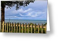 Fenced View Greeting Card