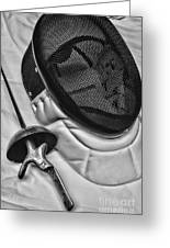 Fencing - Fencing Mask And Sword Greeting Card