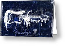 Fender Blueprint Washout Greeting Card