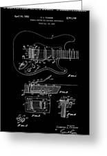 Fender Guitar Tremolo Patent Art 1956 Greeting Card
