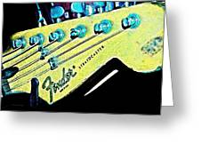 Fender Head In Watercolor Photo Greeting Card