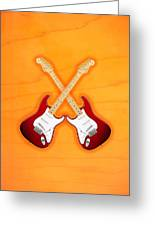 Fender Stratocaster American Standart Red   Greeting Card