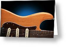 Fender Stratocaster Curves Greeting Card