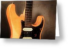 Fender Stratocaster Electric Guitar Greeting Card