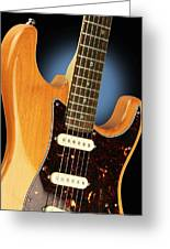 Fender Stratocaster Electric Guitar Natural Greeting Card