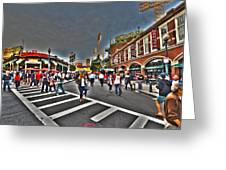 Fenway Park And Cask And Flagon Greeting Card