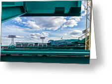 Fenway Park From The Green Monster Greeting Card