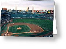 Fenway Park Photo - Inside View Greeting Card by Horsch Gallery