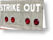 Fenway Park Strike - Out Scoreboard  Greeting Card