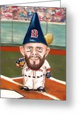 Fenway's Garden Gnome Greeting Card by Jack Skinner