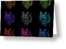 Feral Cat Pop Art - 9905 F M - Bb Greeting Card