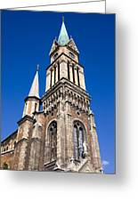 Ferencvaros Church Tower In Budapest Greeting Card