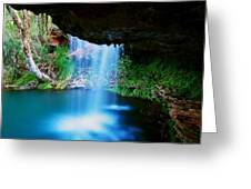 Fern Pool Falls Greeting Card