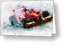 Fernando Alonso Of Spain Greeting Card