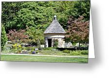 Fernwood Botanical Garden Stone Herb House Usa Greeting Card