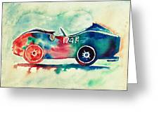 Ferrari 124 Pm Greeting Card