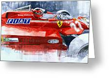 Ferrari 126c Silverstone 1981 British Gp Gilles Villeneuve Greeting Card