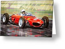 Ferrari 156 Dino British Gp1962 Phil Hill Greeting Card