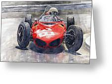 Ferrari 156 Sharknose Phil Hill Monaco 1961 Greeting Card