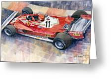Ferrari 312 T2 Niki Lauda 1977 Monaco Gp Greeting Card
