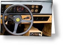 Ferrari 3.2 Mondial Cabriolet Interior Greeting Card