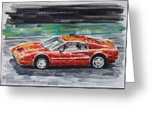 Ferrari 328 Greeting Card