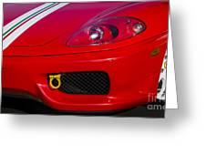 Ferrari 360 Greeting Card