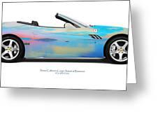 Ferrari California Bunessan Bay Greeting Card