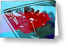 Ferrari Cockpit Greeting Card