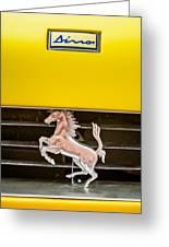 Ferrari Dino Grille Emblem -0750c Greeting Card