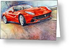 2014 Ferrari F12 Berlinetta  Greeting Card