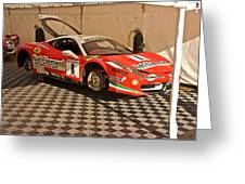 Ferrari F458 In Pit Area Greeting Card