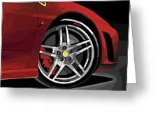 Ferrari Front End Greeting Card