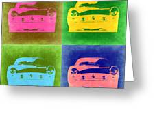 Ferrari Front Pop Art 3 Greeting Card by Naxart Studio