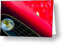 Ferrari Grille Emblem - Headlight Greeting Card
